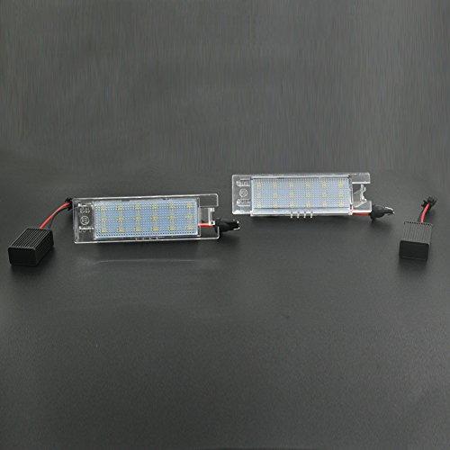 Auto Wayfeng WF® 2 Teile/Satz LED Auto Nummer Kennzeichenbeleuchtung Lamp e für Vauxhall Opel Corsa C D Astra H J Vectra Langlebig Stoßfest