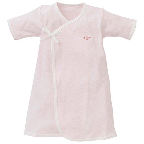 西松屋 パイルAラインドレス(刺繍ワンポイント) 【新生児50-60cm】 ブルー