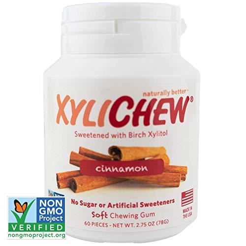 Xylichew 100% Xylitol Chewing Gum Jars - Non GMO, Gluten, Aspartame, and Sugar Free Gum - Natural...