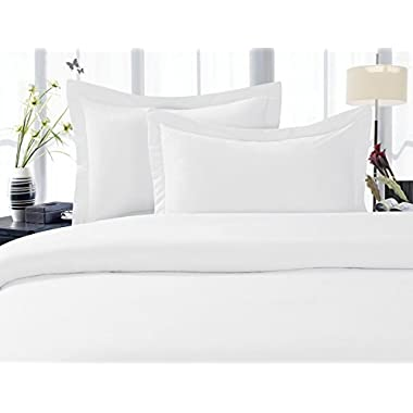 Elegant Comfort 1500 Thread Count Egyptian Quality Super Soft Wrinkle Free 2-Piece Pillowcases- HypoAllergenic, Standard Size - White