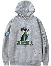 EMLAI Heren Sweatshirt Attack on Titan Dragen Truien Met Capuchon Cosplay Pullover Anime