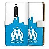 DeinDesign Étui Compatible avec Nokia 5 Étui Folio Étui magnétique Olympique de Marseille La...