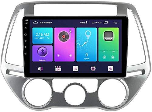 Compatible para Hyundai I20 2009-2013 Sat Nav Android 10.0 Unidad De Cabeza FM Radio Receptor Auto Audio Player MP5 Car Estéreo Táctil Pantalla Táctil Navegación GPS,8 Core 4G+WiFi 4+64GB