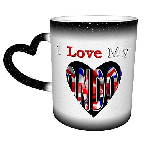 Amo mi palabra de Londres con bandera Novedad Café Té Taza de cerámica Oficina Trabajo Taza Regalo 11 oz