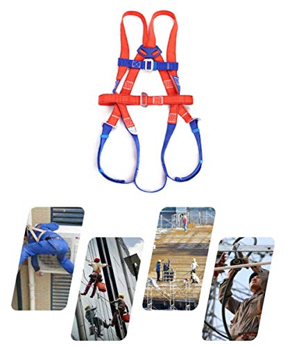 HGXC Construction Harness Vest-Style, for Aerial Lift, Ironworker, Scaffolding, Tower, Tree Climbing for Universal Men and Women