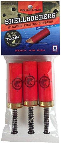 FishingAmmo Fishing Shell Bobber (3-Pack), Red