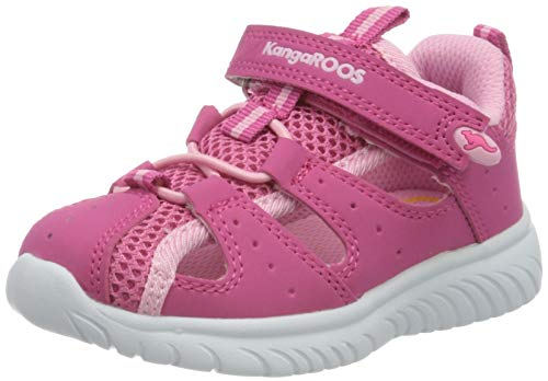 KangaROOS KI-Rock Lite EV Unisex Baby Sneaker, Rot (Daisy Pink/Fuchsia Pink 6176), 23 EU