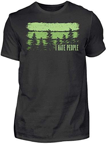 HOLZBRàœDER I Hate People Holz T-Shirt perfekt für die Arbeit mit der Kettensäge im Wald , Schwarz, M