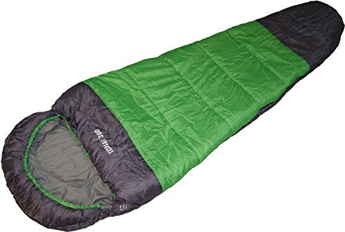 EXPLORER Profi-Mumienschlafsack KODIAK 300, für Camping, Wandern, Outdooraktivitäten, 3/4 Jahreszeiten, 230x80x55cm, Kragen und Kapuze mit Kordelzug Schlafsack 46505