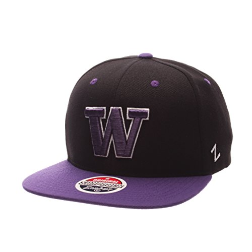 NCAA Zephyr Washington Huskies Mens Z11 Snapback Hat, Adjustable Size, Team Color
