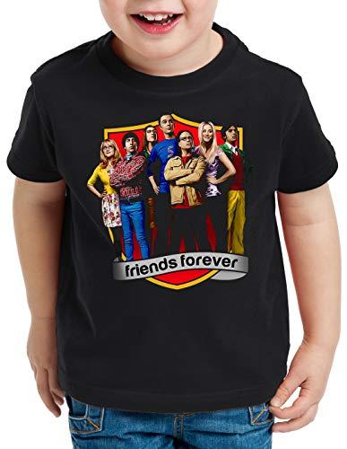 CottonCloud Big Bang Finale Camiseta para Niños T-Shirt Sheldon Leonard Howard Rajesh Penny, Talla:152