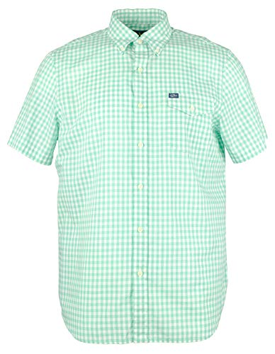 Polo Ralph Lauren Men's Gingham Poplin Short-Sleeve Woven Shirt - Green/White - L