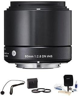 """Sigma 60mm f / 2.8DNアートレンズfor Sony・EマウントNEXカメラ、ブラック、""""バンドル"""""""