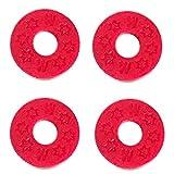 WGOEODI 2 Piezas de Goma para bajo, Correa de Bloqueo, Cojines de arandela con Hebilla Antideslizante Suave, Rojo