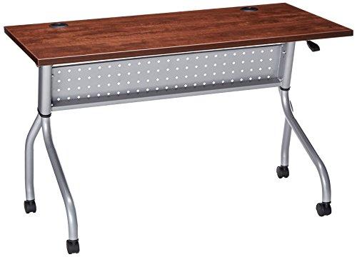 "Lorell Flip Top Training Table, 46"" Height X 8"" Width X 8"" Length, Cherry"