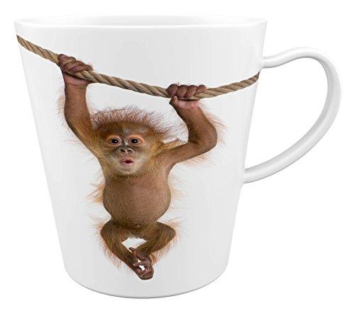 Orang Utan Menschenaffe|Latte Macchiato Becher Kaffeebecher mit Fotodruck |001