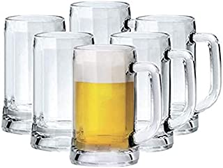 ARTC Munich Beer Mug, Pack of 6, Clear, 355 ml