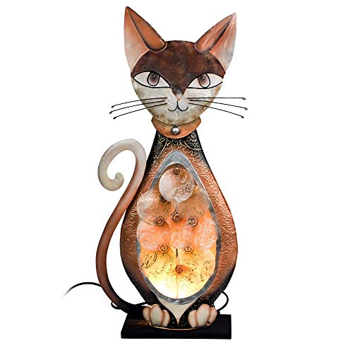 Formano Lampe \'Katze Muschel\', 58 cm, brauntöne