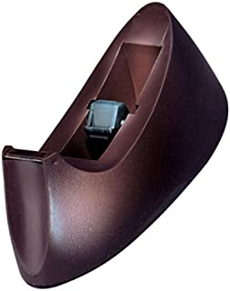 Charles Leonard Desktop Tape Dispenser, Weighted Base and Non-Slip Base, Brown (900-BN)