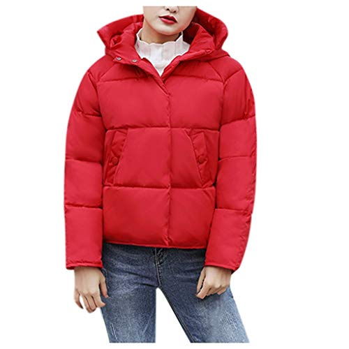 Dtuta Daunenjacke Frauen kurz, Damen Jacke Stepp Leichte Herbst Winter Übergangsjacke,Classics Winterjacke Ladies Hooded Puffer Jacket mit Kapuze