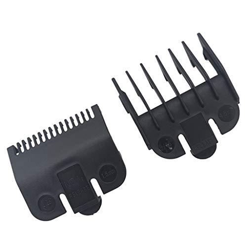 PHILSP Limit Combs 2 Piezas 1,5 mm 4,5 mm peluquería guía de Peinado Peine cortadora de Pelo Negro