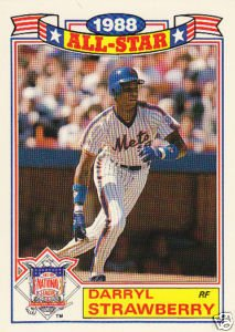 1989 Topps Glossy Darryl Strawberry All-Star Card #19