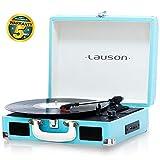 Lauson Giradischi Bluetooth | USB | Lettore Vinile Portatile | Altopartanti Integrati | RCA | CL604 (Azzurro)
