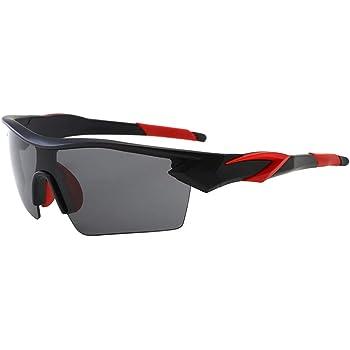 ShareWe Gafas de Ciclismo Unisex Gafas de Sol de Deportivas Polarizadas 5 Lentes Intercambiables para Deporte y Aire Libre Ciclismo Conducir Pesca Ski Esquiar Golf Correr (Negro + Rojo): Amazon.es: Deportes y