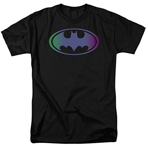 Batman Tinted Blue Logo DC Comics T Shirt & Stickers (Small)