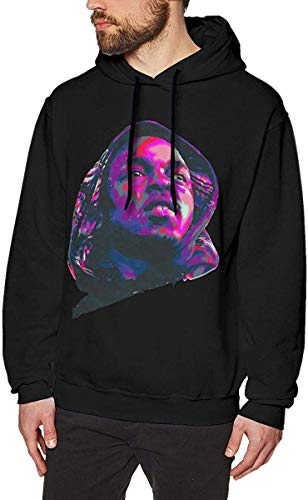 Men's Hooded Sweatshirts Kendrick Lamar Cool Men's Hat and Pocketless Sweater Black