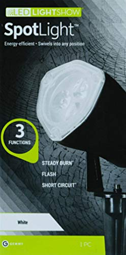Gemmy White Spotlight With 3 Functions: Strobe, Steady and Short Circuit for Halloween
