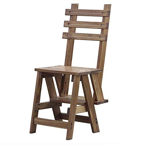 Yjll trapladder van massief hout, 2-traps kruk voor trappen – kruk voor binnengeleiders antislip, multifunctionele ladder
