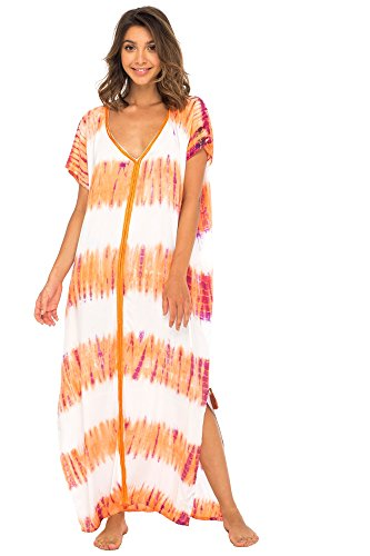 Back From Bali Womens Long Swimsuit Bathing Suit Cover Up Maxi Beach Dress Boho Striped Summer Dress Caftan Sunset