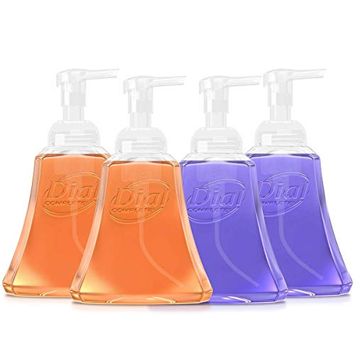 Dial Complete Antibacterial Foaming Hand Wash for Kitchen, Fresh Lavender/Citrus Sunburst, 15 Ounce (Pack of 4)