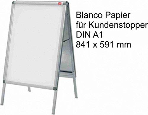 Papier Karton DIN A1 170g weiss passend für Gehwegaufsteller Kundenstopper 10Stk, P&P24