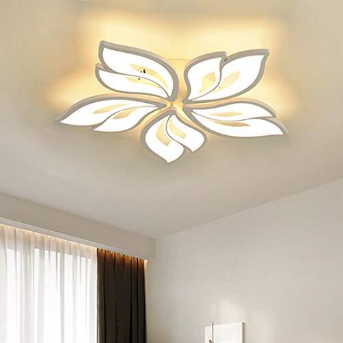 Luz de Techo LED Regulable con Control Remoto Color de luz/Brillo Ajustable Sombra Acrílica Marco Metal Forma de flor Lámpara de Techo Dormitorio Comedor Lámpara de Sala de Estar (B-5)