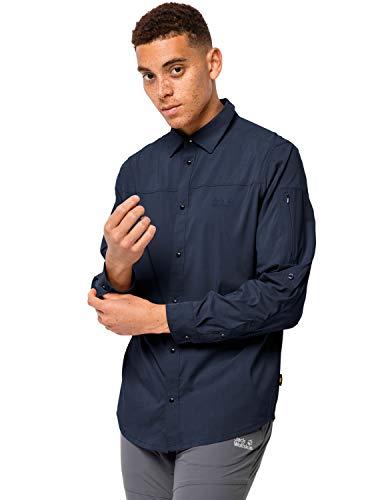 Jack Wolfskin män snabbtorkande Outdoor skjorta långärmad Kenovo Ls Shirt M Nattblått Large
