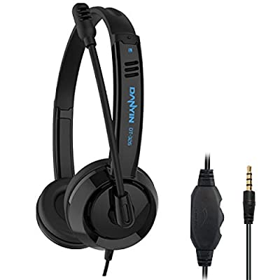 RMFC 3.5mm PC Headsets with Microphone Noise Cancelling Mic & Audio Controls for Mobile Phone Laptop PC Tablet, Wired Stereo Computer Headphone PC Headset Earphone for Office, Call Center, Online from RMFC