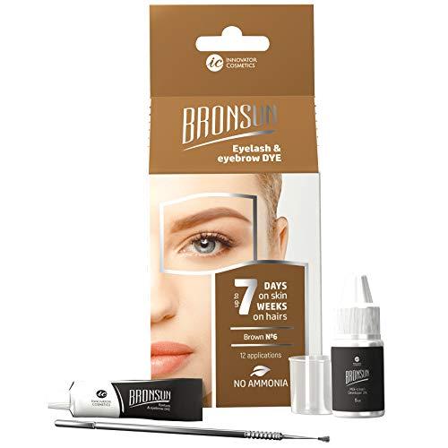 Augenbrauen Färbeset Mini Kit Instant Eyebrow Farbe Braun Langanhaltende 4-teilig