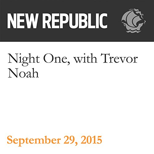Night One, with Trevor Noah audiobook cover art