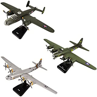 InAir SMITHSONIAN E-Z Build 3pc Set - B-17 Green Flying Fortress, B-29 Superfortress & B-25 Mitchell - 1:144 Scale