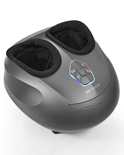 MARNUR Fußmassagegerät mit Wärmefunktion Elektrisches Shiatsu Fussmassage Kneten Luftkompression und Einstellbare Intensität und Timer 3 Optionale Modi für Männer und Frauen
