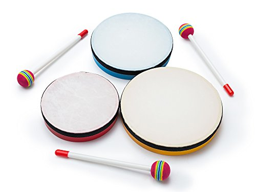 3-Piece Hand-Drum Set for Kids – Hand Drum Instruments + Bag – 3 Sizes of Hands Drums, Musical Toys for Kids, Ideal for Learners or future Rockstars