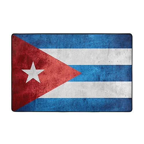 kThrones Badematte Teppich,Flagge von Kuba oder kubanisches Banner auf groben Muster Textur Badezimmerteppich 75cmx45cm