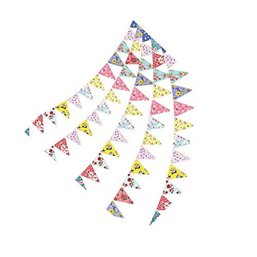 Floral Triangle Flags Tea Party Banner Bunting Decorations