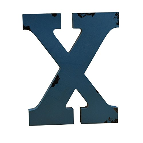 WINGONEER Multi-Color Wood Alphabet Letter Sign Name Kids Room Wedding Nursery Decoration - X