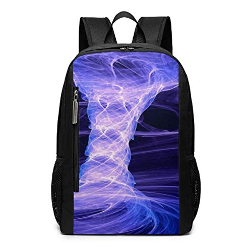 AOOEDM Bolsa para la Escuela Backpack 17 Inch Amazing Purple Tornado Outdoor...