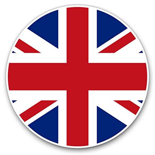 Pegatinas de vinilo (2 unidades, 7,5 cm), diseño de bandera británica de Inglaterra #9067