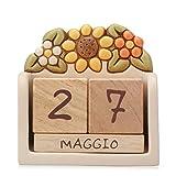 THUN ® - Calendario perpetuo da Tavolo - Ceramica - Linea Country...