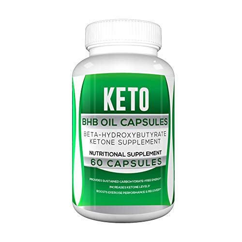 Keto BHB Oil Capsules for Weight Loss - Green Keto BHB Oil Powder Capsules (Beta-Hydroxybutyrate) - Keto BHB 800 Pills (60 Capsules, 1 Bottle) 1